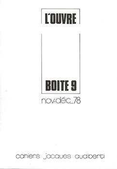 L'OUVRE-BOÎTE N° 9
